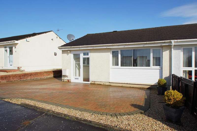 2 Bedrooms Semi Detached Bungalow for sale in Kirkmuir Drive, Stewarton KA3