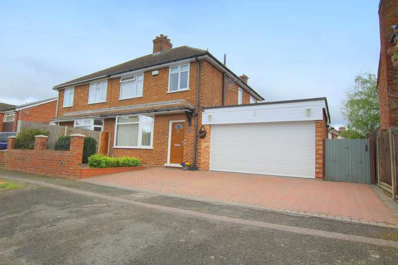 3 Bedrooms Semi Detached House for sale in South Avenue, Elstow, Bedfordshire, MK42 9YS