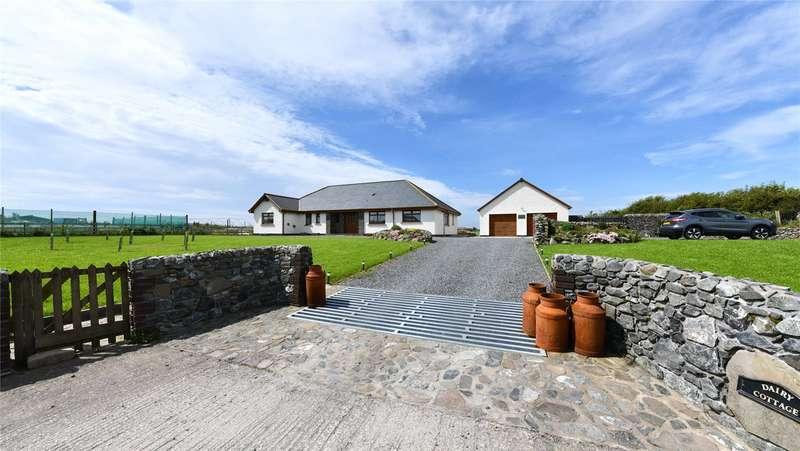 4 Bedrooms Detached Bungalow for sale in Dairy Cottage, Kirklauchline, Stoneykirk, Stranraer, Dumfries and Galloway, DG9