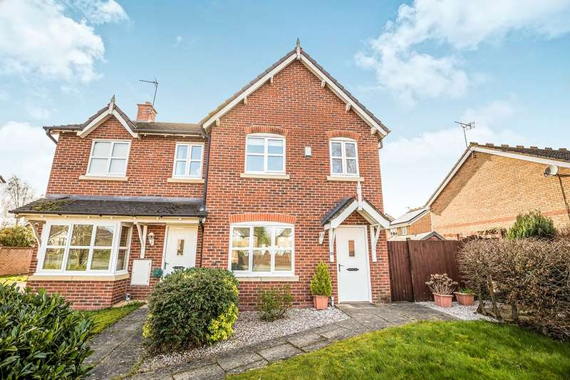 3 Bedrooms Semi Detached House for sale in Trinity Close, Gobowen, Oswestry, Shropshire, SY11