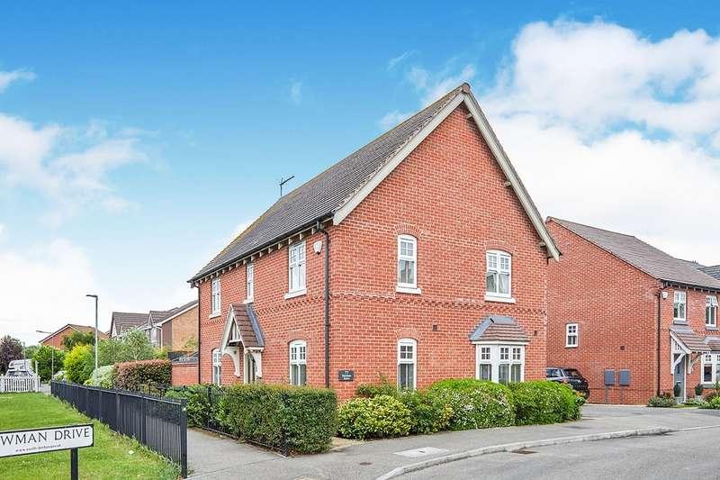 4 Bedrooms Detached House for sale in Newman Drive, Church Gresley, Swadlincote, Derbyshire, DE11