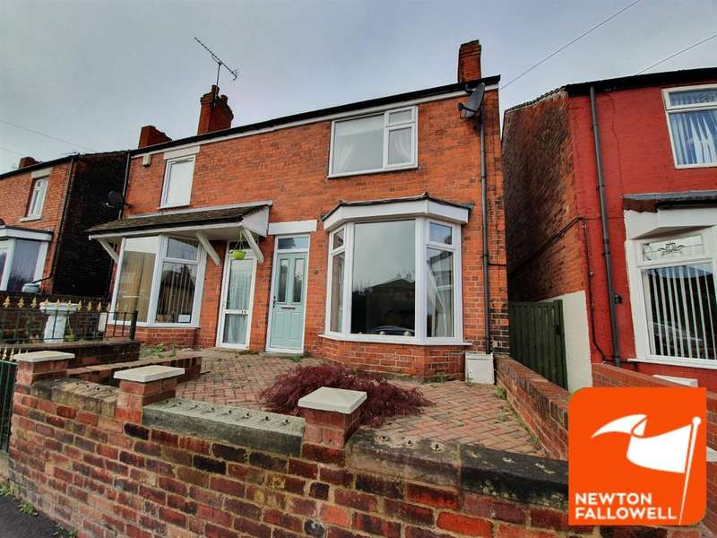 3 Bedrooms Semi Detached House for sale in Welbeck Street, Creswell, Worksop