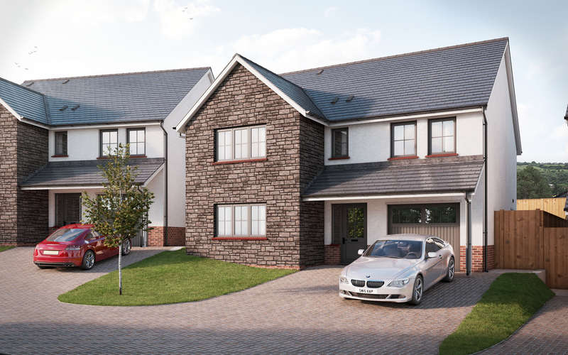 5 Bedrooms Detached House for sale in The Burton, Colman Vale, Pen-Y-Fai, Bridgend, Bridgend County Borough, CF31 4BX