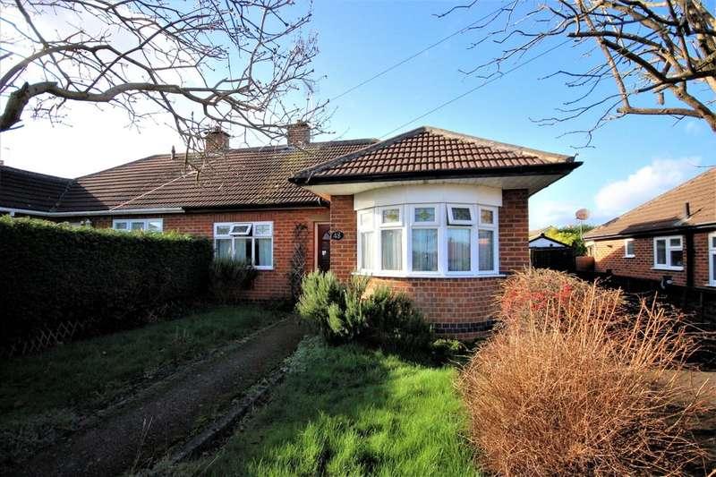 2 Bedrooms Semi Detached Bungalow for sale in Oldershaw Road, East Leake