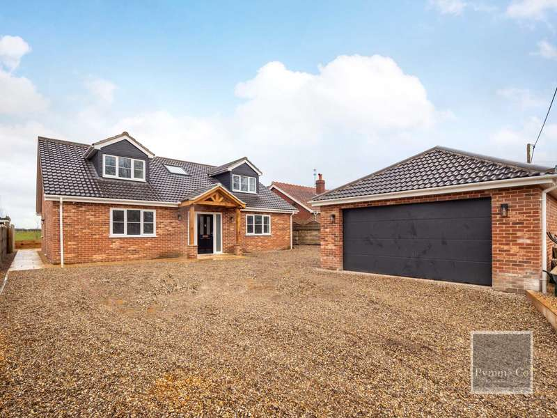 4 Bedrooms Detached House for sale in Cuttons Corner, Hemblington