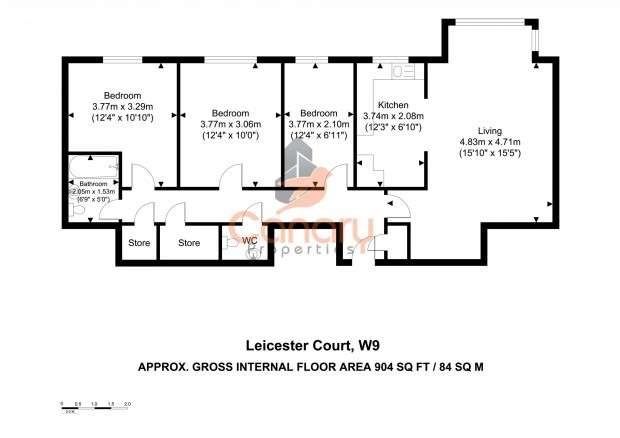 3 Bedrooms Apartment Flat for sale in Leicester Court, Elmfield Way, Maida Vale, W9