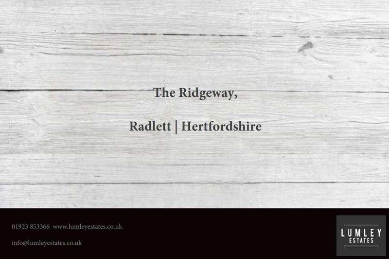 4 Bedrooms Detached House for sale in The Ridgeway, Radlett