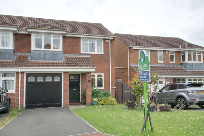 3 Bedrooms Semi Detached House for sale in Ottershaw, Dumpling Hall, Newcastle Upon Tyne, NE15
