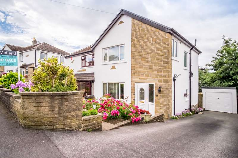3 Bedrooms Semi Detached House for sale in Wood View Grove, Hove Edge, HD6 2EH