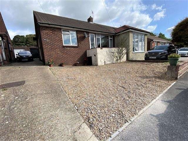 2 Bedrooms Semi Detached Bungalow for sale in Chalkridge Road, East Cosham, Portsmouth, Hampshire, PO6 2BE