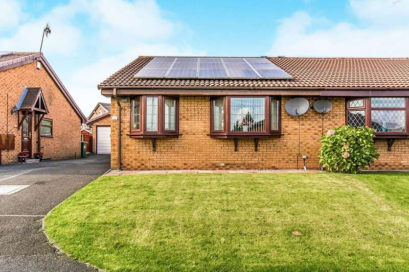 2 Bedrooms Semi Detached Bungalow for sale in Linden Close, Denton, Manchester, Greater Manchester, M34