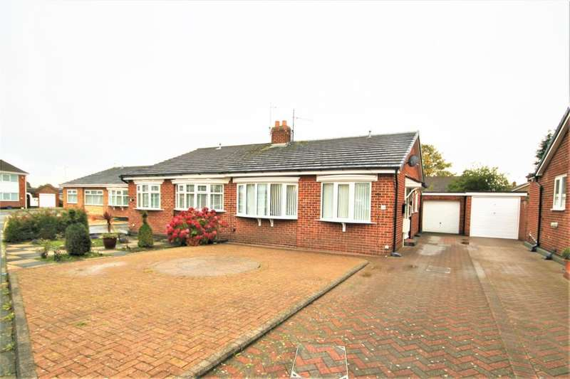 2 Bedrooms Semi Detached Bungalow for sale in Kinderton Grove, Stockton-On-Tees, TS20