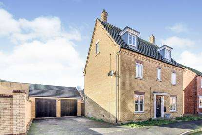 5 Bedrooms Detached House for sale in Crispin Drive, Bedford, Bedfordshire, .