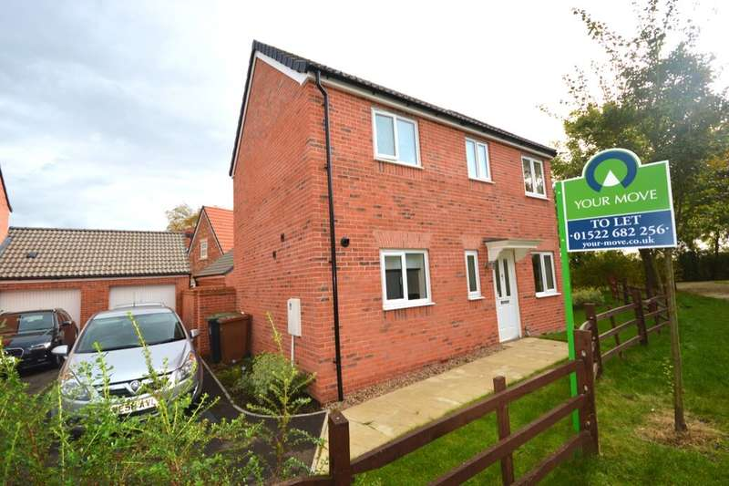 3 Bedrooms Semi Detached House for rent in Honeysuckle Road, Witham St. Hughs, Lincoln, LN6
