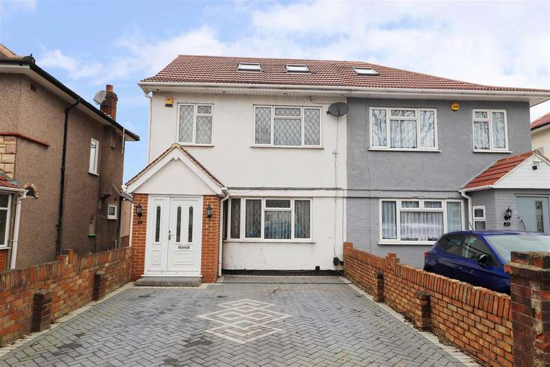 4 Bedrooms Semi Detached House for sale in Hughenden Gardens, Northolt, UB5