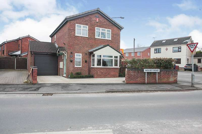 3 Bedrooms Detached House for sale in Wolvey Road, Bulkington, Bedworth, Warwickshire, CV12