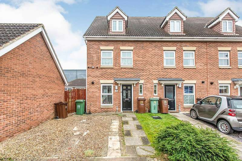 3 Bedrooms End Of Terrace House for sale in Cherry Tree Walk, Knottingley, West Yorkshire, WF11