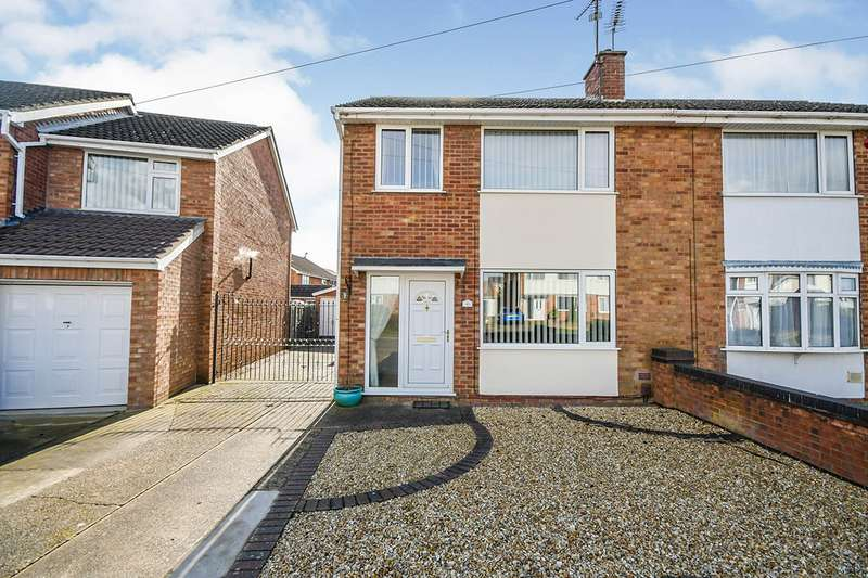 3 Bedrooms Semi Detached House for sale in Dore Avenue, North Hykeham, Lincoln, Lincolnshire, LN6