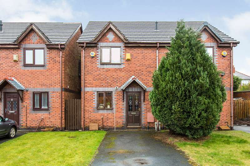 2 Bedrooms Semi Detached House for sale in Finlay Court, Wigan, Lancashire, WN5