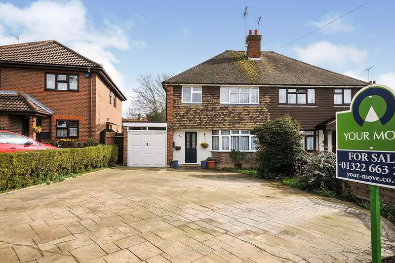 3 Bedrooms Semi Detached House for sale in St. Davids Road, Hextable, Swanley, Kent, BR8