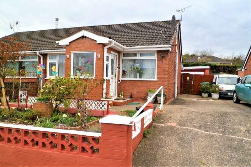 2 Bedrooms Semi Detached Bungalow for sale in Bentley Avenue, Gwersyllt, Wrexham, LL11
