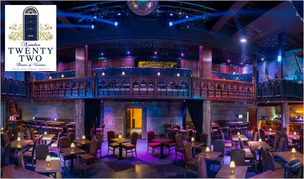 Win a 3-Course Dinner, with Prosecco, and a Big Band Show for 2 people at Number Twenty Two, Dublin 2