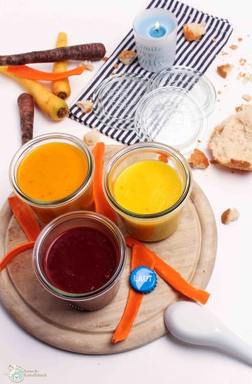 Rezept 3 mal Karottensuppe
