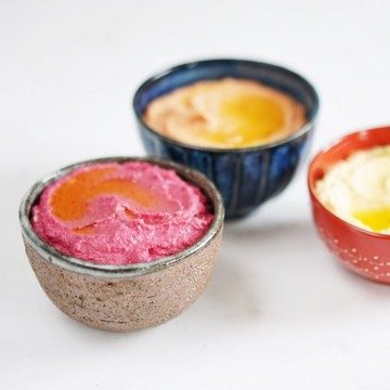 Rezept 3 x Hummus: Klassisch, mit gerösteter Paprika & roter Bete