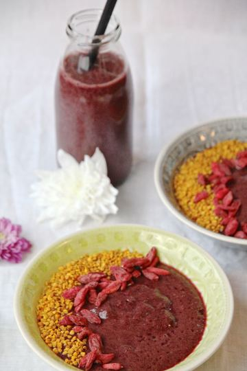 Rezept Acai Granatapfel Smoothiebowl