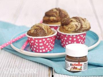 Rezept Achtung, Suchtfaktor: Himmlische Muffins mit Nutella-Wirbel