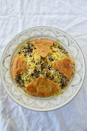 Rezept Adas Polo - Reis mit Linsen, Datteln und Sultaninen