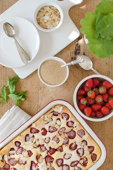Rezept Amaranth-Auflauf mit köstlichen Erdbeeren
