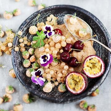 Rezept Amaranth Porridge & Ananaserdbeeren