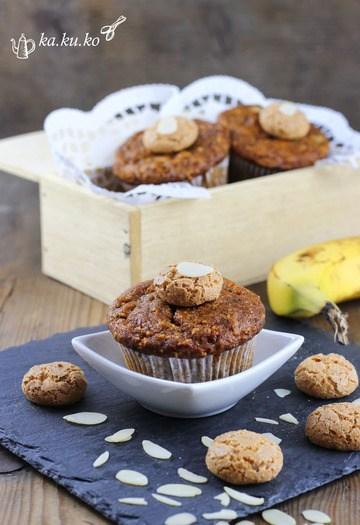 Rezept Amaretto-Bananen-Mandel Muffins
