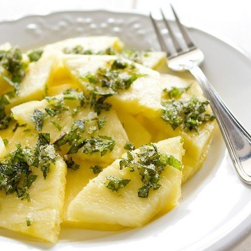 Rezept Ananas mit Minzzucker