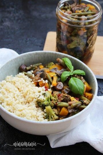 Rezept Antipasta-Gemüse an Bulgur