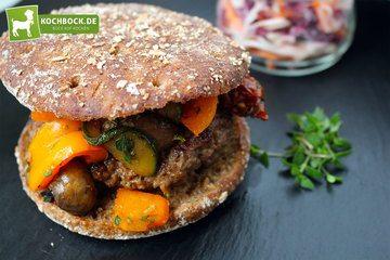Rezept Antipasti Burger mit Coleslaw