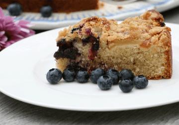Rezept Apfel-Blaubeeren-Streuselkuchen