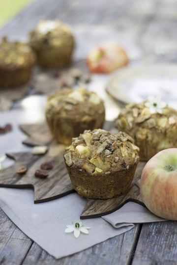 Rezept Apfel-Cranberry Knusper Muffins