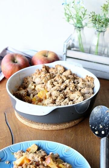 Rezept Apfel - Crumble, ein bisschen gesünder