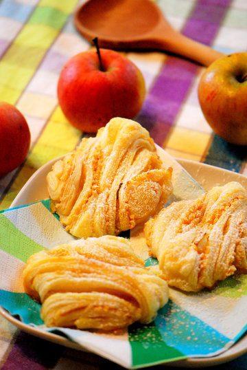 Rezept Apfel-Franzbrötchen aus Blätterteig