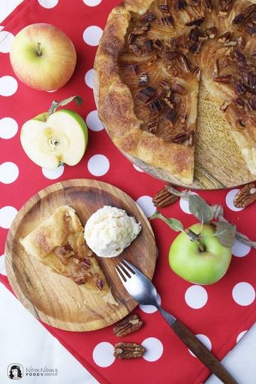 Rezept Apfel-Galette mit Pekannüssen