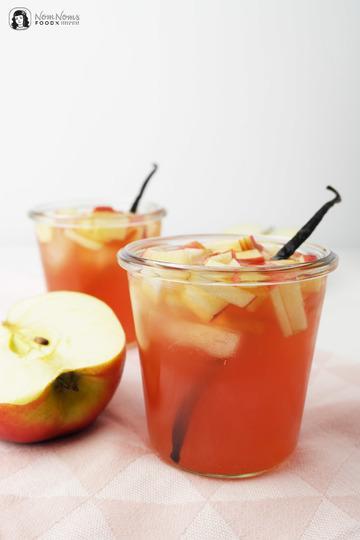 Rezept Apfel-Hibiskus-Eistee mit Vanille
