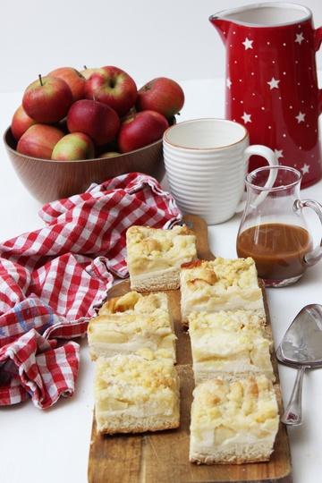 Rezept Apfel-Karamell-Käsekuchen mit drei Schichten super cremig