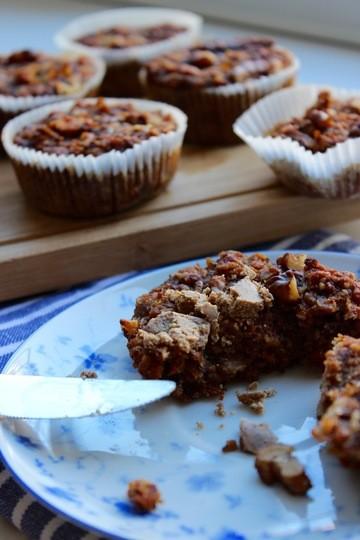 Rezept Apfel-Karotten Muffins. Vegan und glutenfrei.