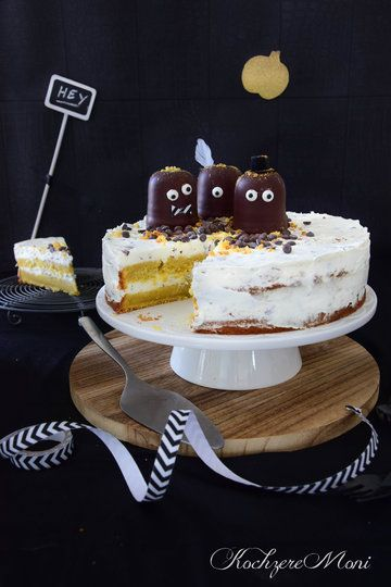 Rezept Apfel Kürbis Torte mit Schokokusscreme