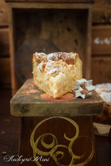 Rezept Apfel Mandel Kuchen mit Lebkuchenstreuseln