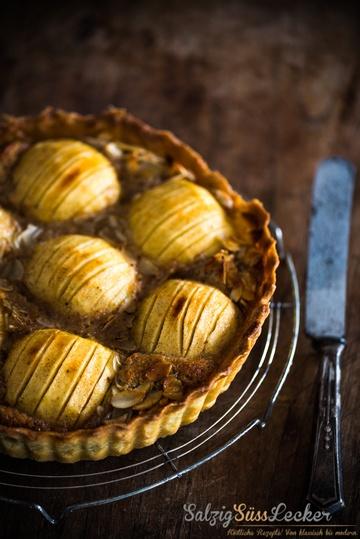Rezept Apfel-Mandel-Tarte mit aromatisierten Vanilleäpfeln
