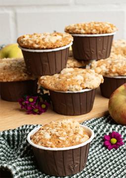 Rezept Apfel-Muffins mit Nuss-Streuseln