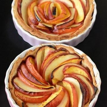 Rezept Apfel-Nektarinen-Tartes